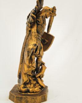 Imagem São Miguel Arcanjo ouro velho 34 cm em borracha