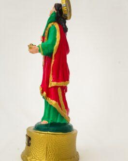 Imagem Santa Luzia 22 cm em borracha