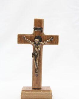 Crucifixo de MDF 9 cm com medalha de São Bento